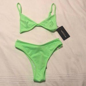 Neon green bathing suit